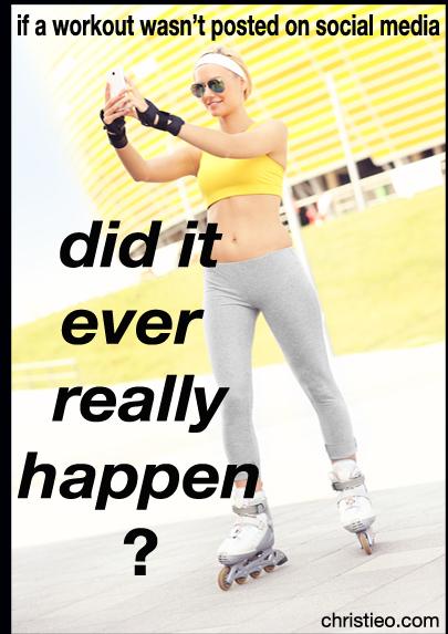 workout social media
